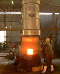 2 ton Pneumatic forging hammer working in India customer