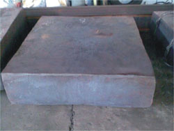 Steel plate forged by hydraulic upsetting forging press