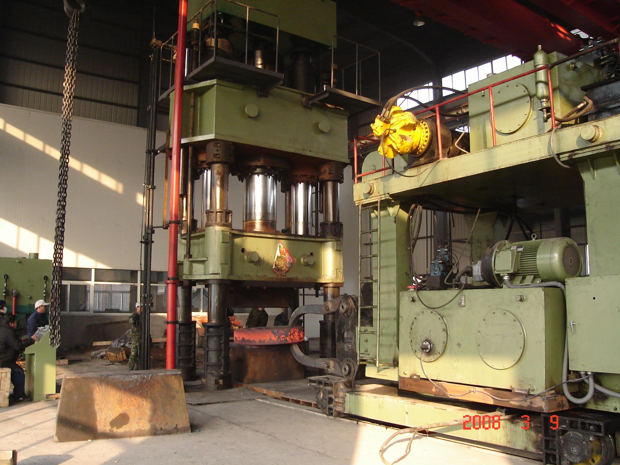 2000 ton Heavy upsetting hydraulic open die forging press