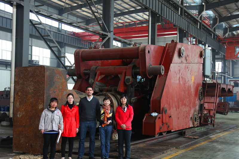 Mexico forging manipulator customer visit our company
