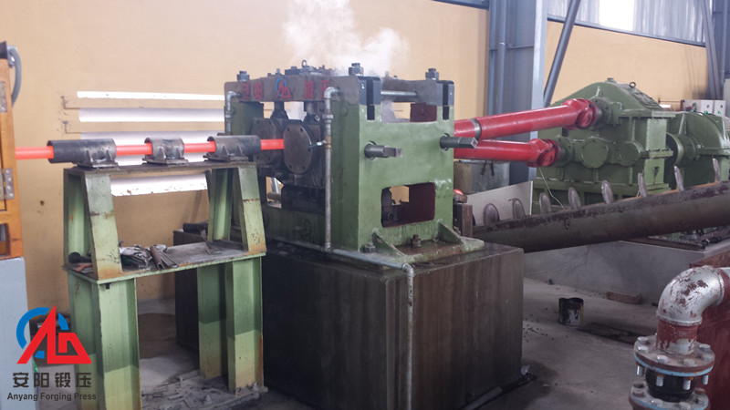 60mm skew rolling machine in customer