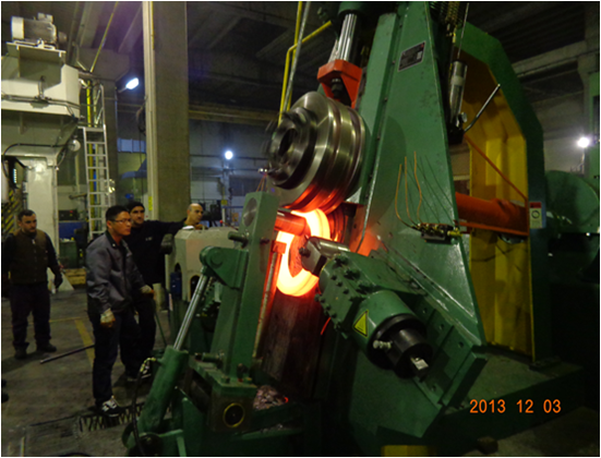 Gear blank, flange forging by ring rolling machine
