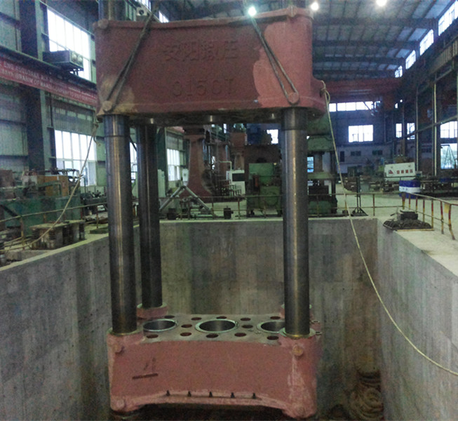 3150t Hydraulic free forging press assembly
