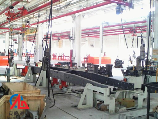 brake liner riveting machine line in Anhui  Hualing CAMC