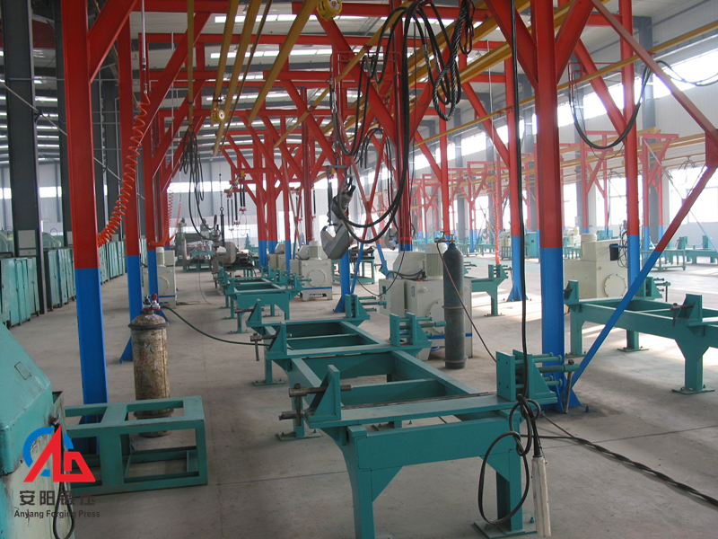 automatic hydraulic brake rivet machine line in Henan Zhongzhou