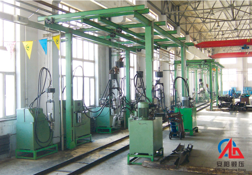 hydraulic oil brake liner rivet machine in Changchun FAW Sihuan