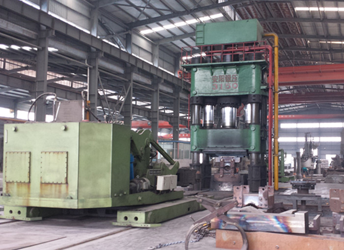 3150t Open die hydraulic piercing and drawing press and 8t forging manipulator