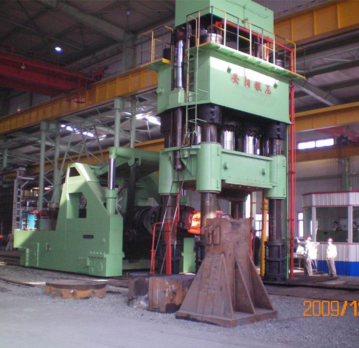3150t Hydraulic open die forging press and 20t rail bound forging manipulator