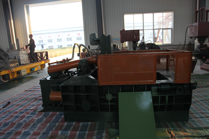 metal scrap baling press machine assembly