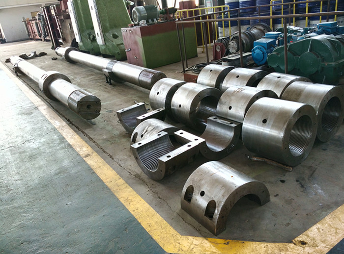 Hydraulic drawing forging press assembly