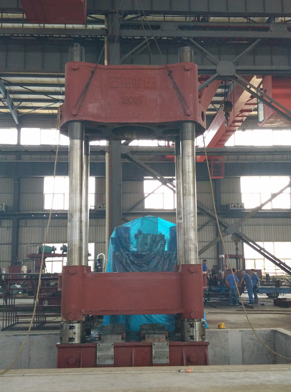 1600t Vertical hydraulic ironing forging press assembly
