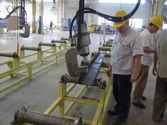 Brake Rivet Press : Aeroplane brake riveting machine in gac anyang forging