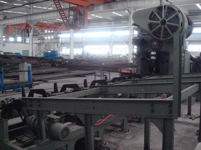 Q42-500 round billet cutting machine line in Chongqing