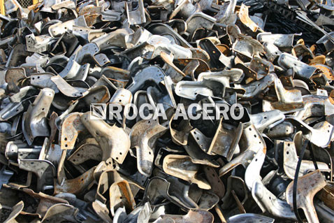 steel scrap recycled by scrap metal baler