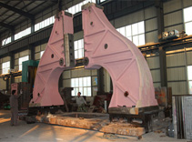 Open die hydraulic forging hammer assembly