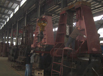 Die hydraulic forging hammer assembly