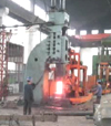Single frame open die hydraulic forging hammer forging video