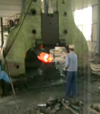 Double arm free forging hammer forging video