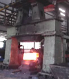 Bridge frame hydraulic open die hammer forging video