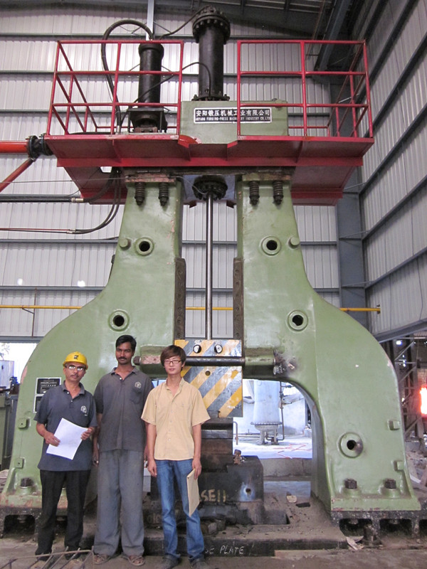 2 ton elctro hydraulic open die forging hammer in  India