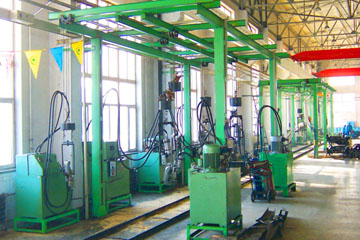 hydraulic truck frame  machine in Sihuan FAW